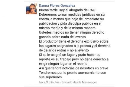 Palo dado ni Dios lo quita, verdad Danna Flores de RAC Producciones