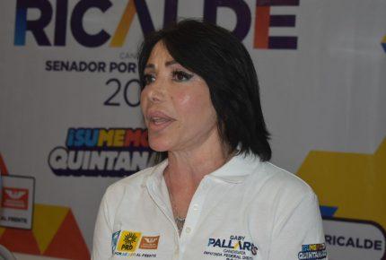 Reducir el IVA al 50%  fortalecerá la economía  de Quintana  Roo: Gaby Pallares