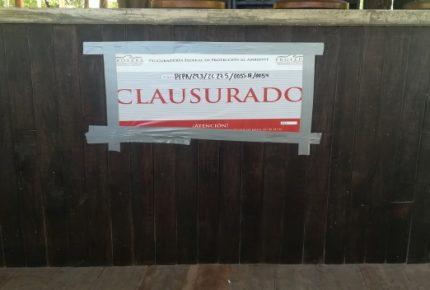 Clausura @Profepa una predio en el parque nacional de #Tulum