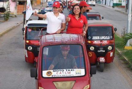 @coraamaliacm) y Rossana Romero recibe el apoyo de mototaxistas de JMM