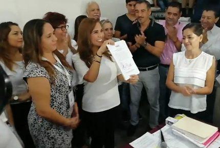 Recibe #MaraLezama constancia de mayoría en Benito Juárez