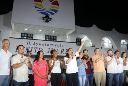 @MaraLezama virtual ganadora de la elección en #Cancún