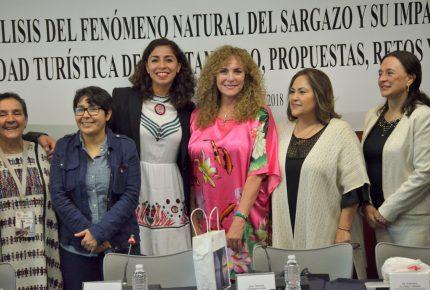 @MaribelVillegas participa en mesa de trabajo sobre el #Sargazo