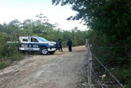 Encuentran a un ejecutado maniatado en la #RutadelosCenotes en #Puerto Morelos