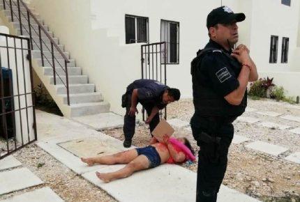 Le cortan el cuello a mujer embarazada de cinco meses en Playa del Carmen