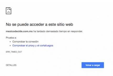 Se cae la página de la consulta ciudadana del NAICM