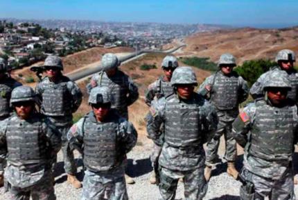Envía EU a frontera con México soldados para frenar Caravana Migrante