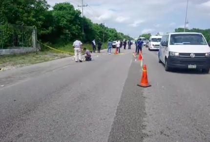 Balazos entre dos unidades en la carretera Cancún-Puerto Morelos