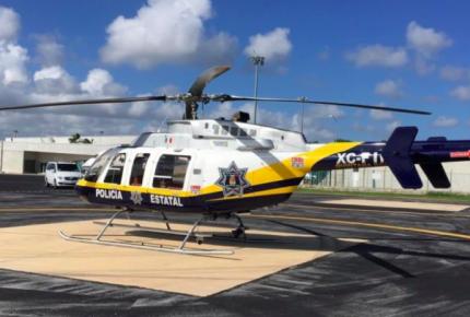 Rescatan helicóptero abandonado para fortalecer la seguridad en Quintana Roo