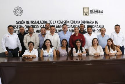 Instalan Comisión Edilicia Ordinaria de Industria, Comercio y Asuntos Agropecuarios en #Solidaridad