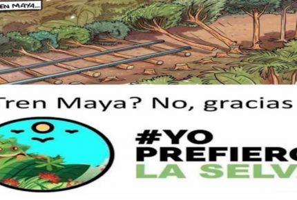En rechazo al Tren Maya  surge en Redes Sociales #Yoprefierolaselva