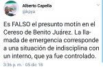 Niega Capella Ibarra motín en Cereso de #Cancún