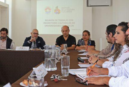 Acuerdan plan de cultura con universidades de Cancún