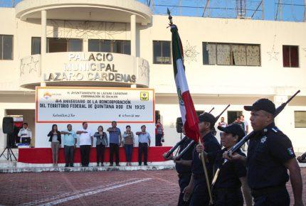 Conmemoran el 84 aniversario de la reincorporación federal de #QuintanaRoo