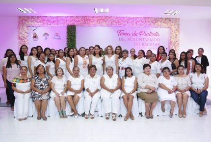 La labor de los voluntariados multiplica nuestra red de protección para las familias de Quintana Roo: Gaby Rejón de Joaquín
