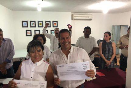 Se registra Noé García por el distrito 3 por el partido MAS