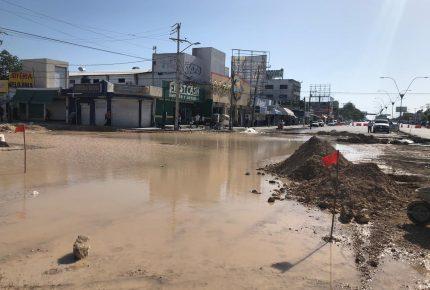 Remodelación en «Crucero» provoca ruptura en red de agua potable