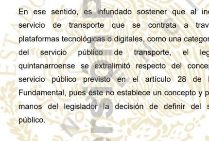 Uber solo quiere generar confusión entre taxistas y gobierno y sociedad en general